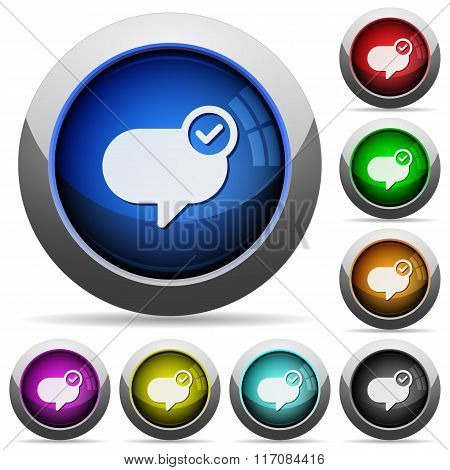 Message Sent Button Set