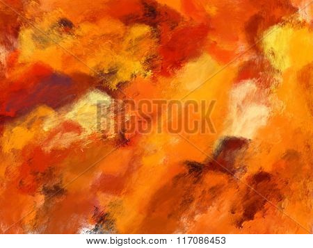 Mainly Orange Abstract