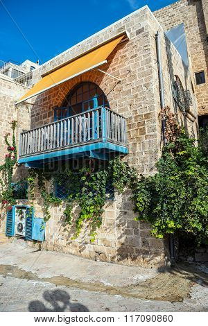 apartment house in old part of Jaffa Tel Aviv Israel poster