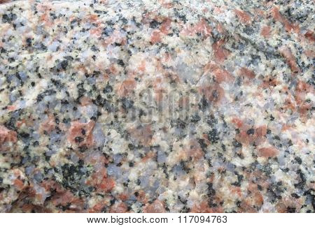 Freakish multi colored pattern on a stone