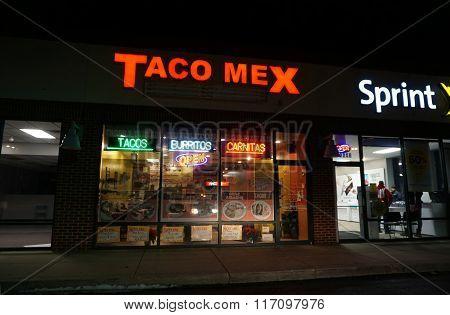 Taco Mex at Night