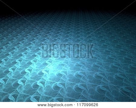 Abstract Digitally Generated Image Wavy Perspective Background