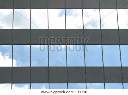 Clouds Reflect In Windows