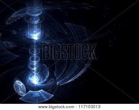 Abstract Digitally Generated Image Lighthouse Copyspace