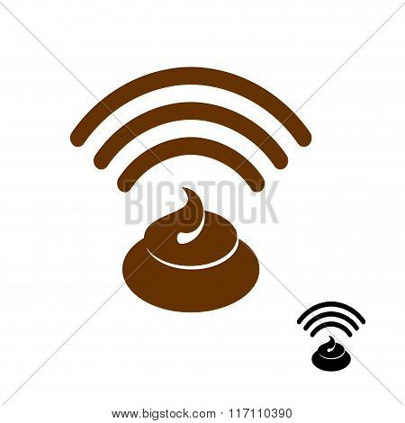 Wi-fi Shit. Wireless Transmission Of Clover. Remote Access To Stinking Waste. Internet Shit. Wi Fi I