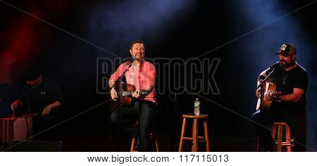 PATCHOGUE, NY-FEB 3: Musician Craig Morgan (C) performs onstage at The Emporium on February 3, 2016 in Patchogue, New York.