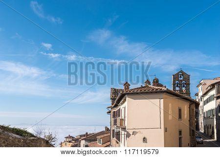 The View Of The Tuscany City Of Cortona