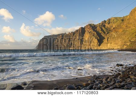 Cliffs Of Los Gigantes At Sunset