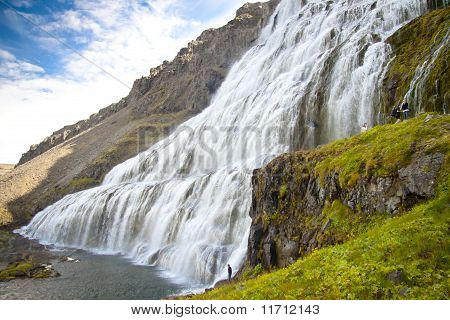 Big And Beauty Dynjandi Waterfall - Westfjords, Iceland