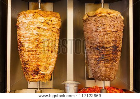 Grilled Chicken Lamb Shawerma Fast Food Meat