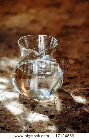 Transparent Jug With Two Liters Of Drinking Water