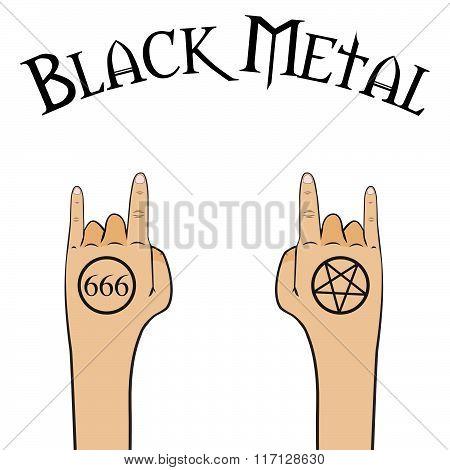 Black metal gestures