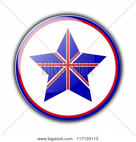 British flag as star
