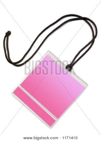 Badge With Pink Copy Space