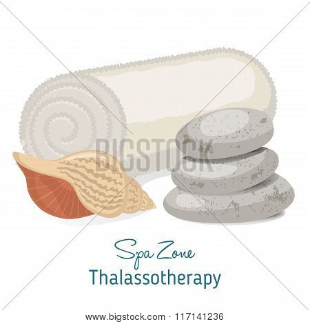 Spa Theme Object On White Background.