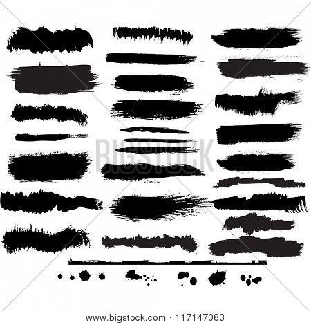 Set of grunge brush