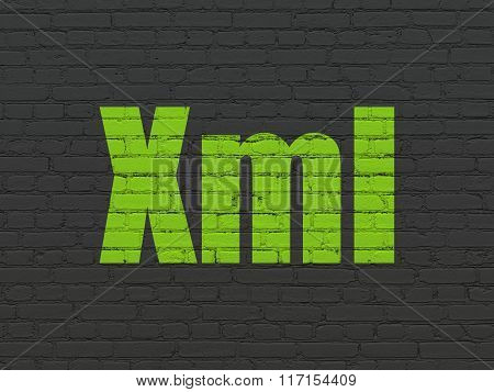 Programming concept: Xml on wall background