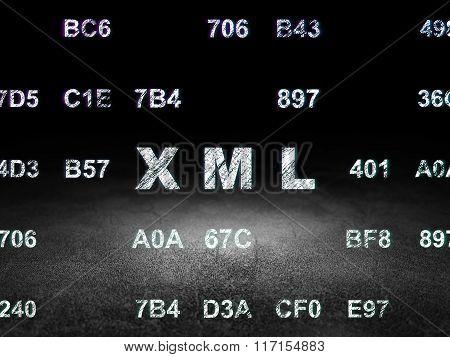 Programming concept: Xml in grunge dark room
