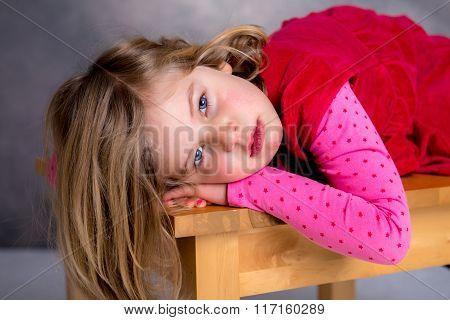 Littlegirl Is Looking Sad