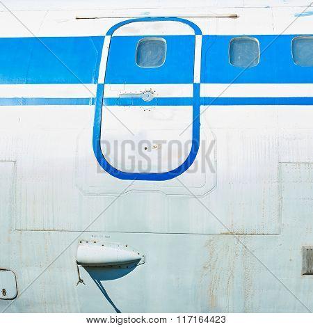 Fuselage Of Old Soviet Passenger Aircraft