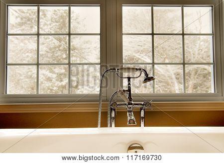 Bathtub with window