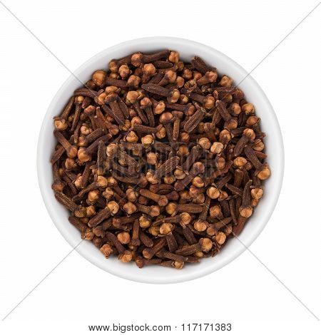 Cloves In A Ceramic Bowl
