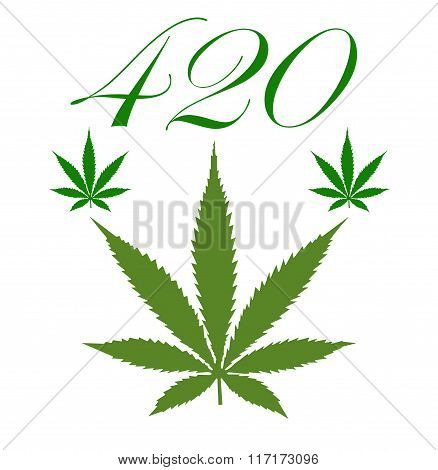 illustration of a marijuana leaf