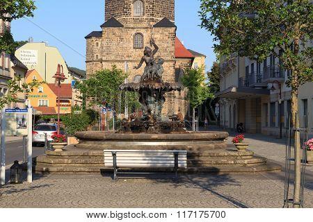 Sendig Fountain In Bad Schandau, Saxon Switzerland