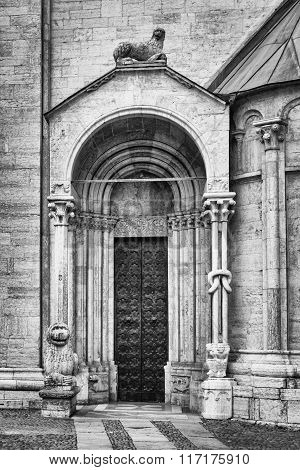 Detail Of Church Of San Vigilio, Trento, Italy.