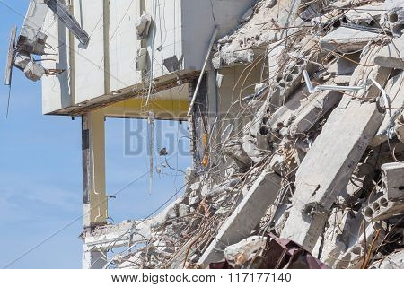 Demolished House Before Reconstruction