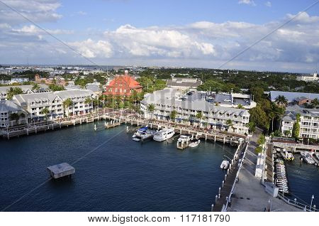KEY WEST, FL - FEBRUARY 9, 2015: The port of Key West, Florida is vital to the island's tourism