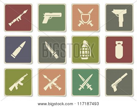 Weapon simply icons