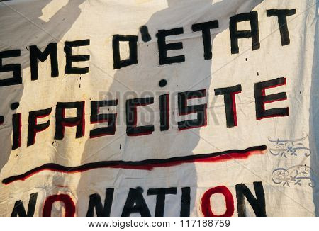 French Demonstration Against Government's State Of Emergency