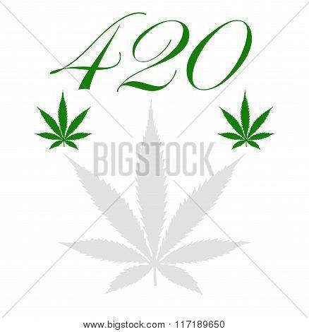 llustration of a marijuana leaf