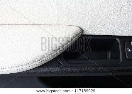 Car Interior. Door Handle