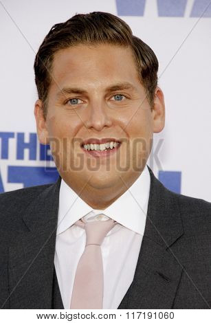 Jonah Hill at the Los Angeles premiere of