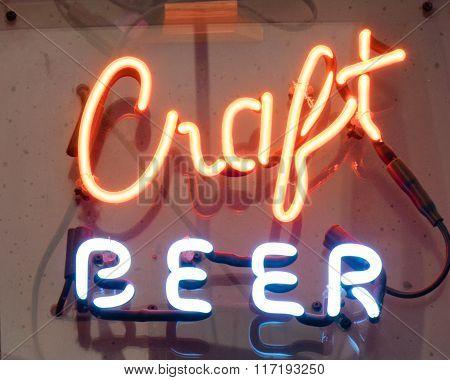 Neon Craft Beer Sign