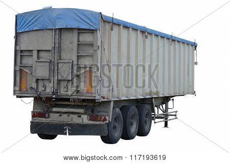 cargo trailer isolated on white background