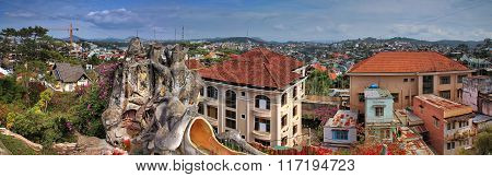 DALAT, VIETNAM - 04 DECEMBER 2012: Hang Nga guesthouse, also known as the