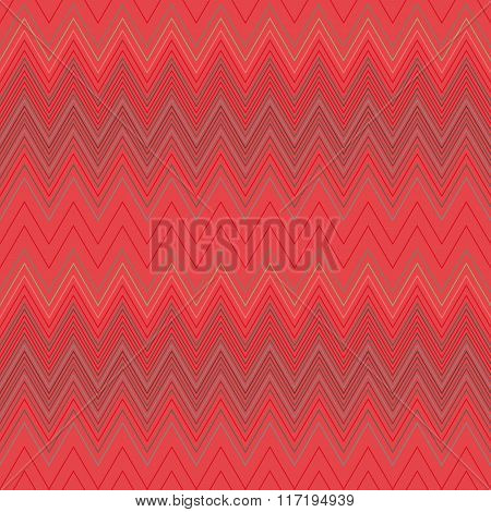 Seamless geometric striped pattern. Stripy background. Zig-zag line lace texture. Red colored. Women