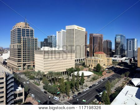Busy Phoenix Downtown, AZ