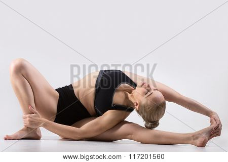 Variation Of Head-to-knee Forward Bend Pose
