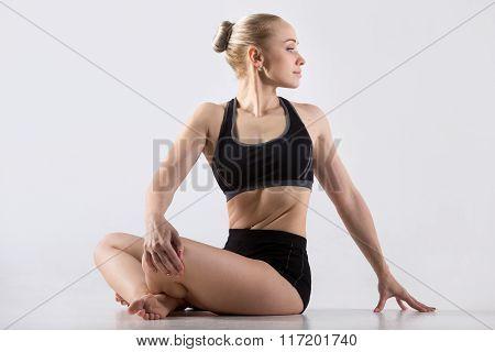 Revolved Easy Pose