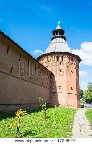 The Ancient Walls Of The Suzdal Kremlin.