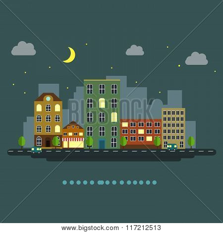 urban landscape flat style