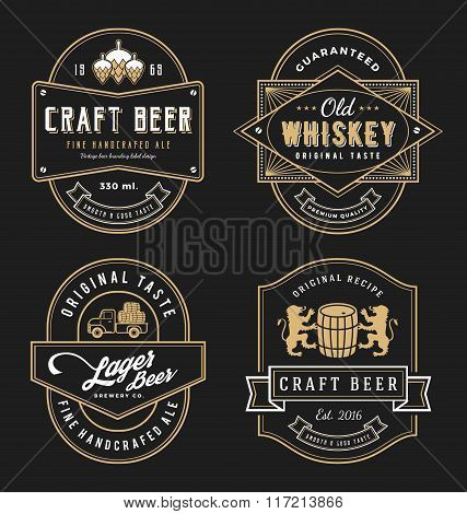 Vintage frame design for labels banner sticker and other design