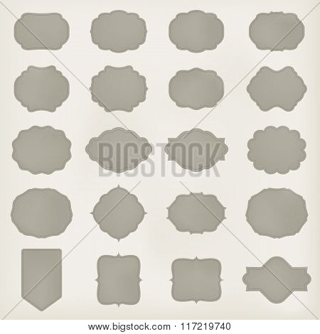 art set of vector vintage frame lable. template for retro design. leather texture. vector