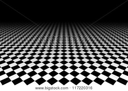 Checkered Background In Perspective