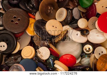A collection of old buttons.