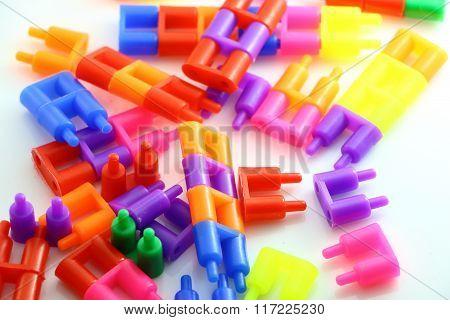 LEGO brick full color for children to improvement poster